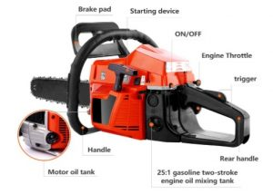 OppsDecor XP2300 58cc Gas Powered Chainsaw