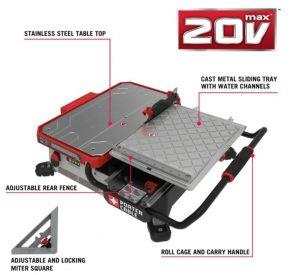 Porter-Cable PCC780LA Wet Tile Saw