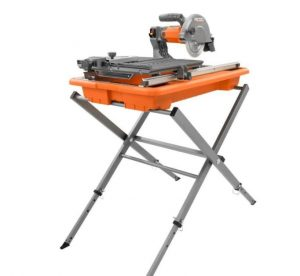 """Ridgid R4030s 7"""" Tile Saw with Foldable Stand"""
