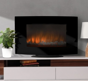 Electric Wall Mount and Free-Standing Fireplace Heater